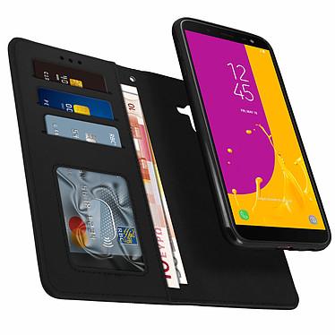 Avizar Etui folio Noir pour Samsung Galaxy J6 pas cher
