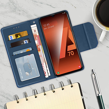 Acheter Avizar Etui folio Bleu Nuit pour Samsung Galaxy A70
