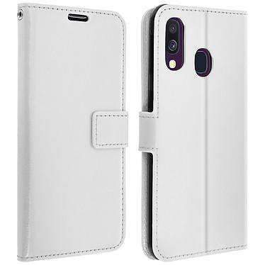 Avizar Etui folio Blanc pour Samsung Galaxy A40 Etui folio Blanc Samsung Galaxy A40