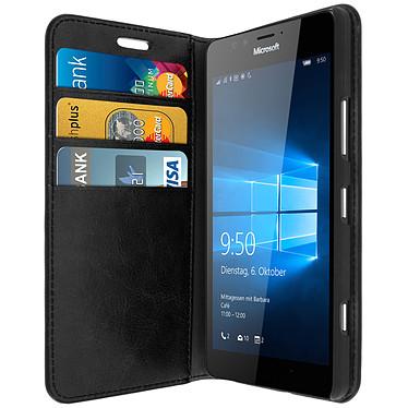 Avizar Etui folio Noir pour Microsoft Lumia 950 , Nokia Lumia 950 Etui folio Noir Microsoft Lumia 950 , Nokia Lumia 950