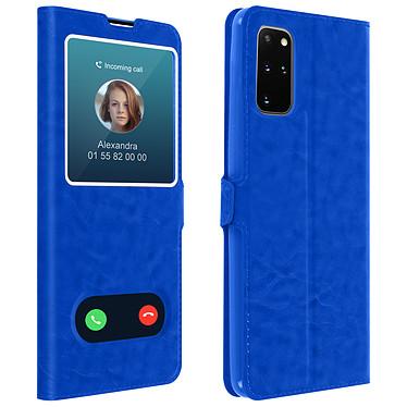 Avizar Etui folio Bleu pour Samsung Galaxy S20 Plus Etui folio Bleu Samsung Galaxy S20 Plus