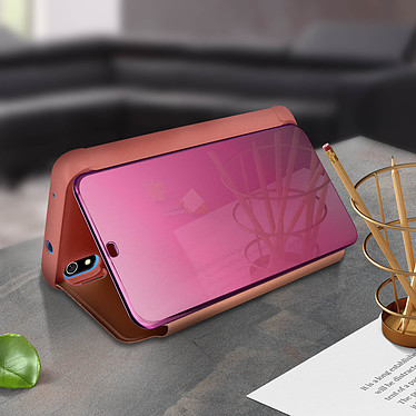 Acheter Avizar Etui folio Rose Champagne Design Miroir pour Xiaomi Redmi 7A