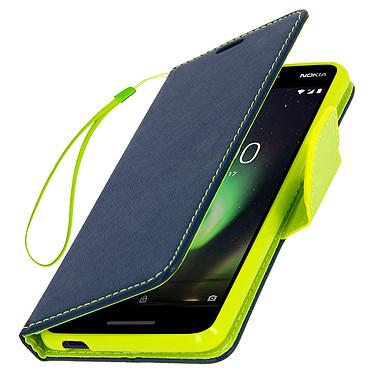 Avizar Etui folio Bleu pour Nokia 2.1 pas cher