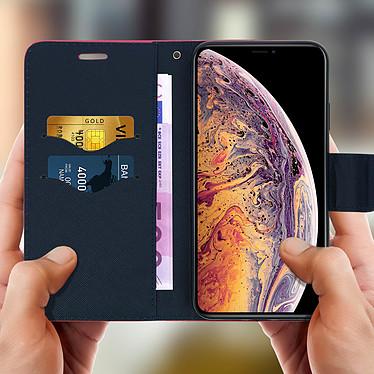 Acheter Avizar Etui folio Fuchsia Fancy Style pour Apple iPhone XS Max