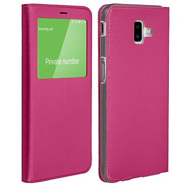 Avizar Etui folio Fuchsia pour Samsung Galaxy J6 Plus Etui folio Fuchsia Samsung Galaxy J6 Plus