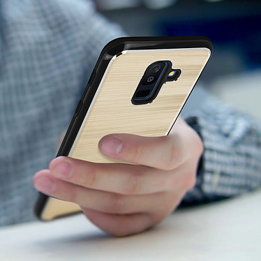 Avis Avizar Coque Dorée Hybride pour Samsung Galaxy A6 Plus