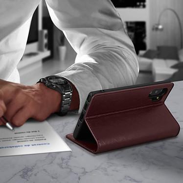 Avis Avizar Etui folio Marron pour Samsung Galaxy Note 10 Plus