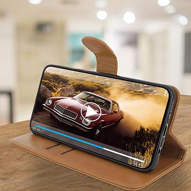 Avis Avizar Etui folio Marron pour Samsung Galaxy A30