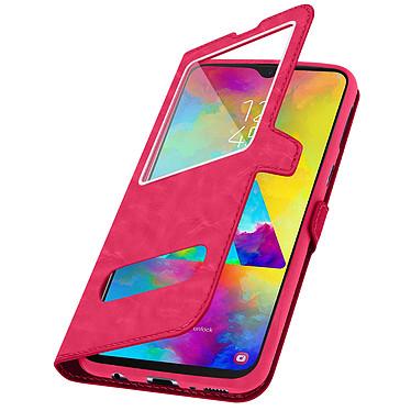 Avizar Etui folio Rose pour Samsung Galaxy M20 pas cher