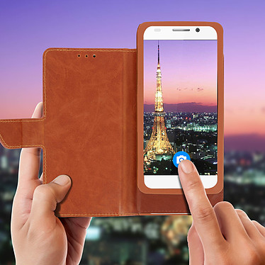Acheter Avizar Etui folio Camel pour Compatibles avec Smartphones de 5,0 à 5,3 pouces