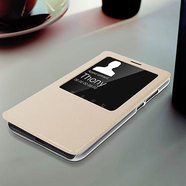 Acheter Avizar Etui folio Dorée à fenêtre pour Xiaomi Redmi Note 7