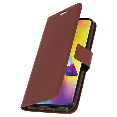 Avizar Etui folio Marron pour Samsung Galaxy M20 pas cher
