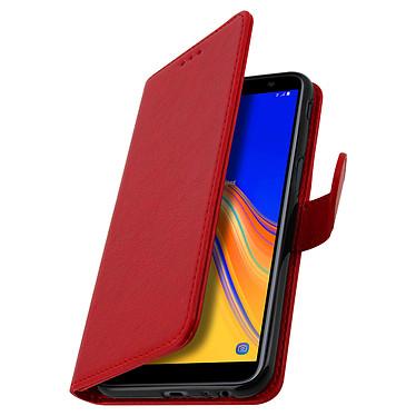 Avizar Etui folio Rouge Porte-Carte pour Samsung Galaxy J6 Plus pas cher