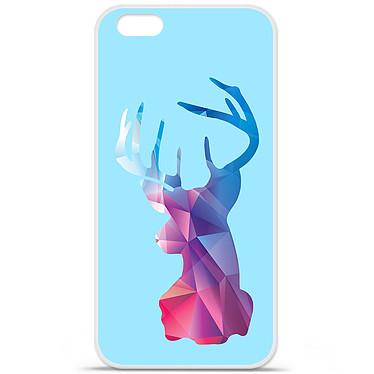 1001 Coques Coque silicone gel Apple IPhone 7 Plus motif Cerf Hipster Bleu Coque silicone gel Apple IPhone 7 Plus motif Cerf Hipster Bleu