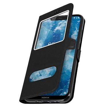Avizar Etui folio Noir pour Nokia 8.1 pas cher
