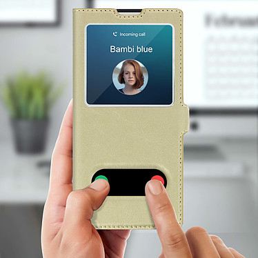 Acheter Avizar Etui folio Dorée pour Samsung Galaxy Note 10 Plus
