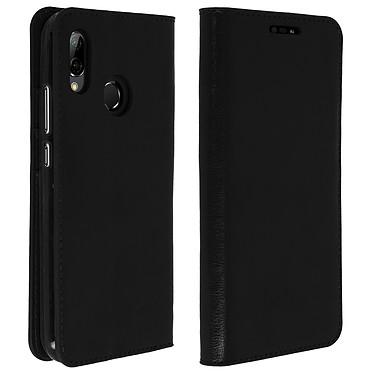 Avizar Etui folio Noir Cuir véritable pour Huawei P20 Lite pas cher