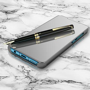 Avizar Etui folio Argent pour Huawei P30 Lite , Honor 20S , Huawei P30 Lite XL pas cher