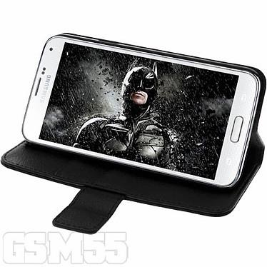 Avizar Etui folio Noir Portefeuille pour Samsung Galaxy S5 , Samsung Galaxy S5 New pas cher