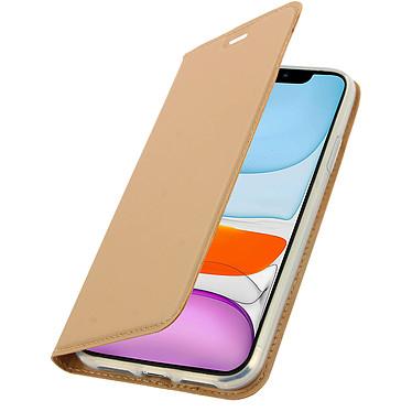 Avizar Etui folio Dorée Éco-cuir pour Apple iPhone 11 pas cher