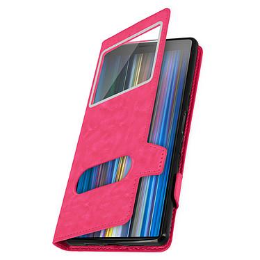 Avizar Etui folio Rose Stand Vidéo pour Sony Xperia 10 pas cher