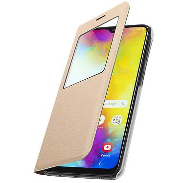 Avizar Etui folio Dorée pour Samsung Galaxy M20 pas cher