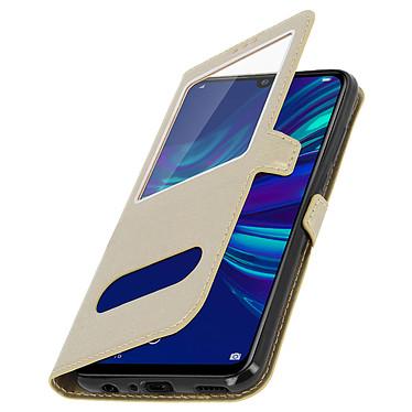 Avizar Etui folio Dorée à fenêtre pour Huawei P Smart 2019 , Honor 10 Lite pas cher