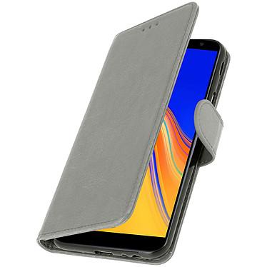 Avizar Etui folio Gris pour Samsung Galaxy J4 Plus pas cher