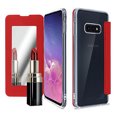 Avizar Etui folio Rouge Miroir pour Samsung Galaxy S10e pas cher