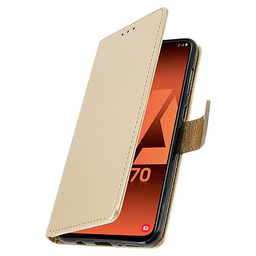 Avizar Etui folio Dorée pour Samsung Galaxy A70 pas cher