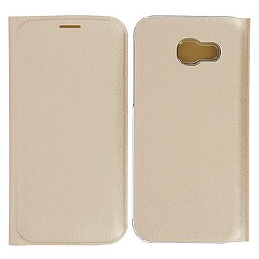 Avizar Etui folio Dorée Éco-cuir pour Samsung Galaxy A5 2017 Etui folio Dorée éco-cuir Samsung Galaxy A5 2017