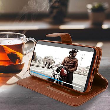Avis Avizar Etui folio Marron pour Samsung Galaxy A20e