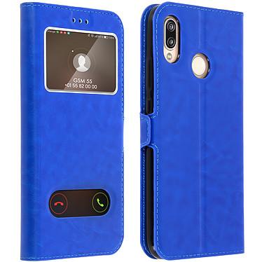 Avizar Etui folio Bleu pour Huawei P20 Lite Etui folio Bleu Huawei P20 Lite