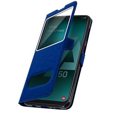 Avizar Etui folio Bleu pour Samsung Galaxy A50 , Samsung Galaxy A30s pas cher