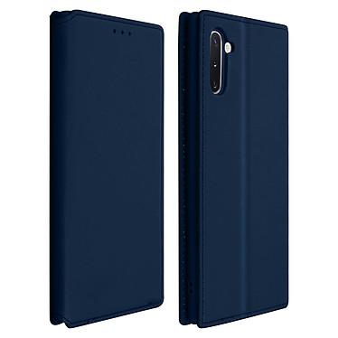 Avizar Etui folio Bleu Nuit Éco-cuir pour Samsung Galaxy Note 10 Etui folio Bleu Nuit éco-cuir Samsung Galaxy Note 10