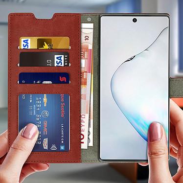 Acheter Avizar Etui folio Marron pour Samsung Galaxy Note 10
