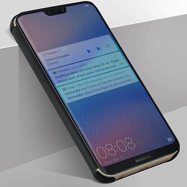 Avizar Etui folio Noir Translucide pour Huawei P20 Lite pas cher