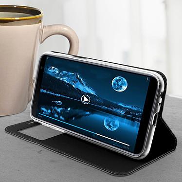 Avis Avizar Etui folio Noir Fenêtre Affichage pour Samsung Galaxy J6 Plus