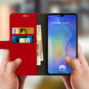 Acheter Avizar Etui folio Rouge Porte-Carte pour Huawei Mate 20