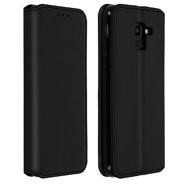 Avizar Etui folio Noir Éco-cuir pour Samsung Galaxy J6 pas cher
