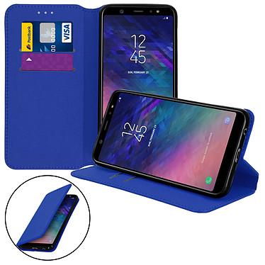 Avizar Etui folio Bleu Nuit pour Samsung Galaxy A6 Plus Etui folio Bleu Nuit Samsung Galaxy A6 Plus