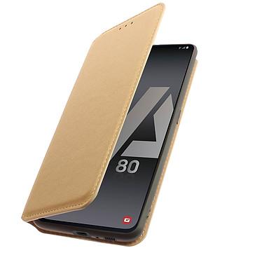 Avizar Etui folio Dorée pour Samsung Galaxy A80 pas cher