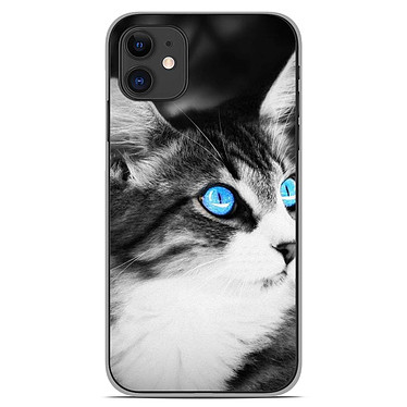 1001 Coques Coque silicone gel Apple iPhone 11 motif Chat yeux bleu Coque silicone gel Apple iPhone 11 motif Chat yeux bleu