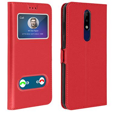 Avizar Etui folio Rouge pour Nokia 5.1 Plus Etui folio Rouge Nokia 5.1 Plus