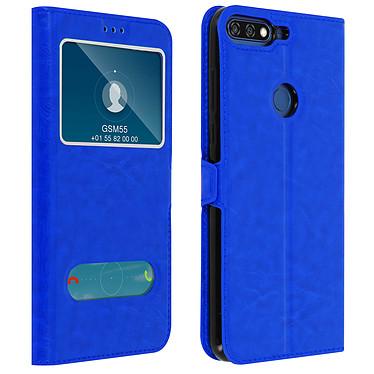Avizar Etui folio Bleu pour Honor 7A , Huawei Y6 2018 Etui folio Bleu Honor 7A , Huawei Y6 2018