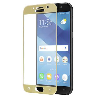 Avizar Film verre trempé Dorée pour Samsung Galaxy A5 2017 pas cher