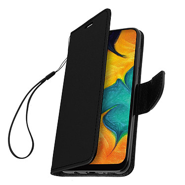 Avizar Etui folio Noir pour Samsung Galaxy A30 pas cher
