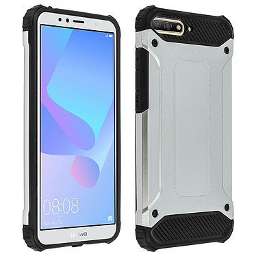 Avizar Coque Argent pour Huawei Y6 2018 Coque Argent Huawei Y6 2018
