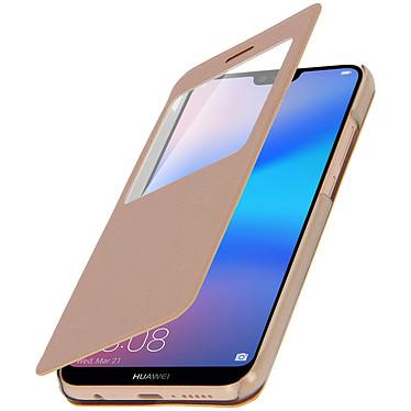 Avizar Etui folio Dorée pour Huawei P20 Lite pas cher