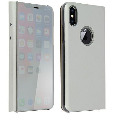 Avizar Etui folio Argent pour Apple iPhone X , Apple iPhone XS Etui folio Argent Apple iPhone X , Apple iPhone XS